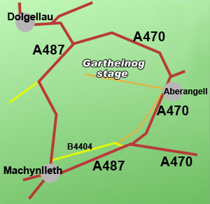 gartheinog rally stage, North Wales